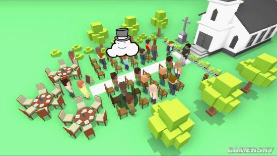 Steam搞怪新游操控云朵 把地上的人们淋成落汤鸡