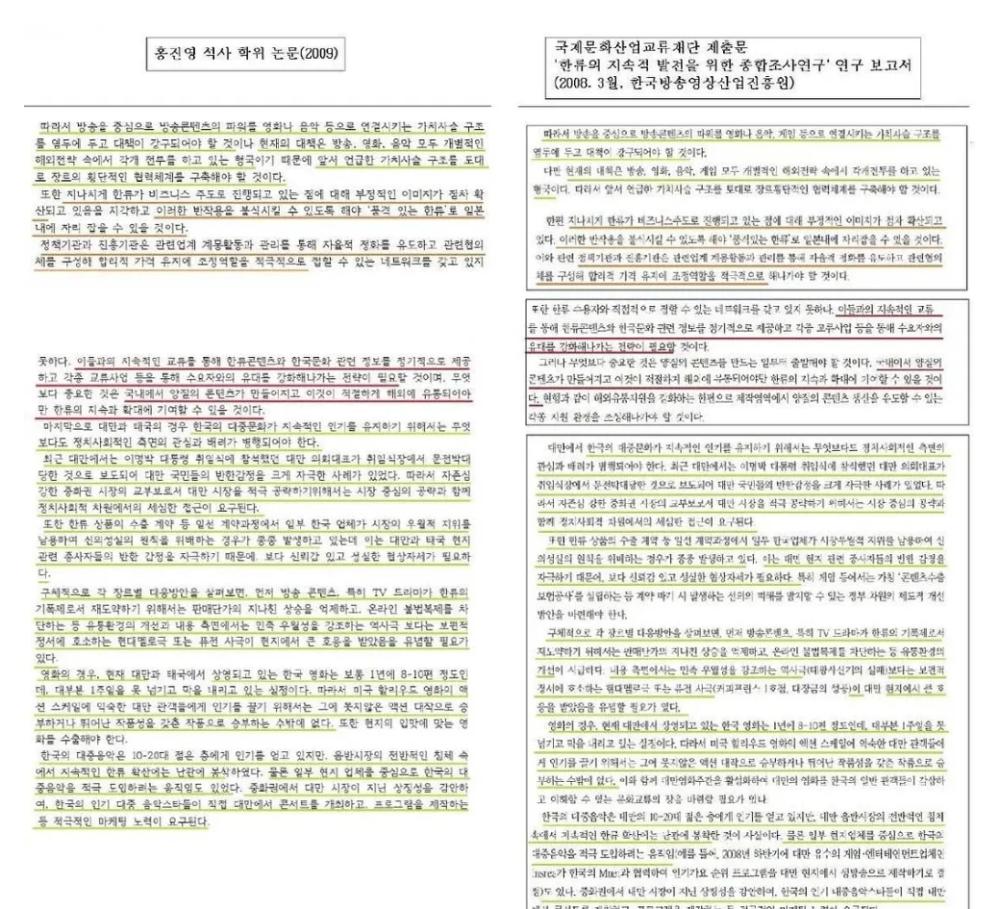 韩国歌手洪真英被爆硕博论文造假 网友感叹又一个韩版翟天临
