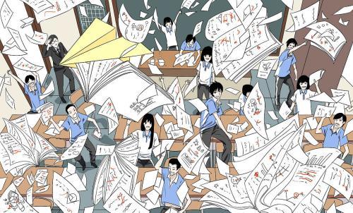 最后一天高考结束 浙江高考终于考完了