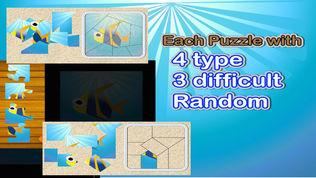 QCat - 幼儿的海洋世界互动拼图游戏 (免费)软件截图2