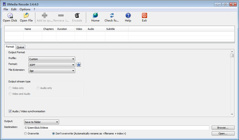 XMedia Recode Portable (视频转换软件)下载