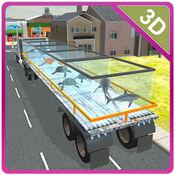 3D转运卡车的海洋动物