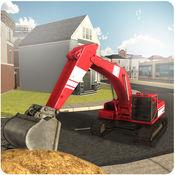 沙挖掘机起重机模拟器3D