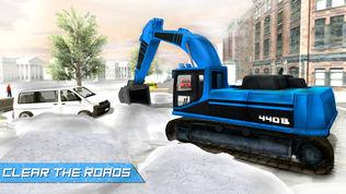 大雪挖掘机模拟器软件截图0