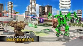 真实 机器人 战斗 VS 飞行 汽车 游戏软件截图1