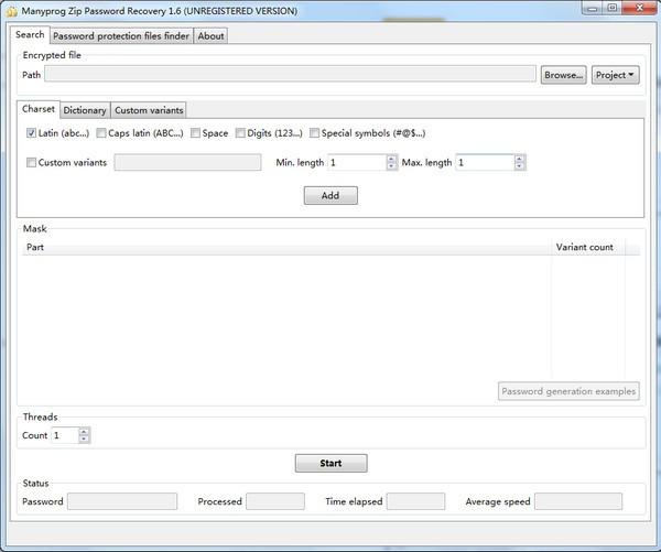Manyprog Zip Password recover(密码恢复软件)下载