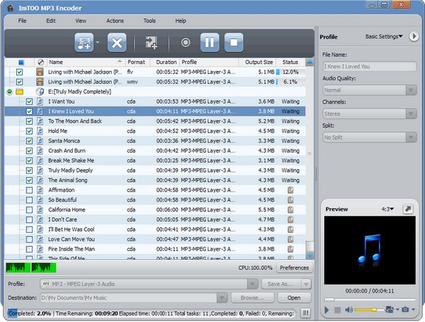 ImTOO MP3 Encoder(MP3格式转换器)下载