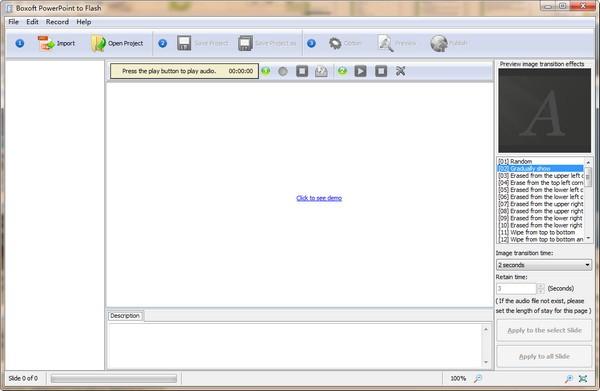 Boxoft PowerPoint to Flash(PPT转Flash软件)下载