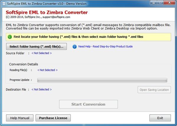 SoftSpire EML to Zimbra Converter(EML转换成Zimbra)下载