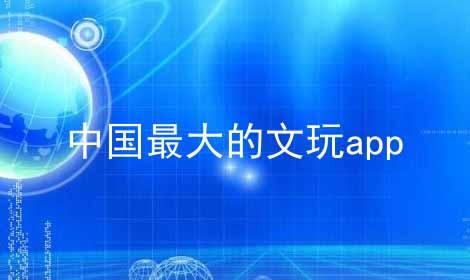 中国最大的文玩app软件合辑