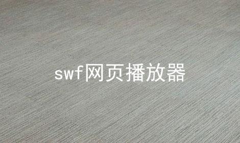 swf网页播放器
