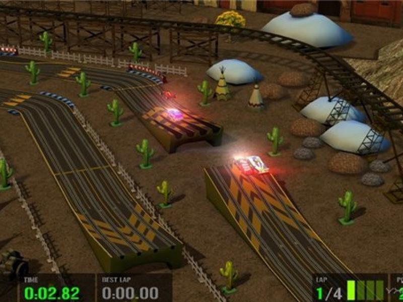 高科技赛车:模拟玩具车赛 英文版下载