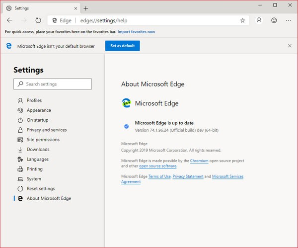Microsoft Edge Dev(Chromium Edge开发版)下载
