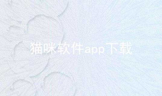猫咪软件app下载