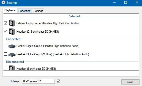 SoundSwitch(音频设备切换软件)下载