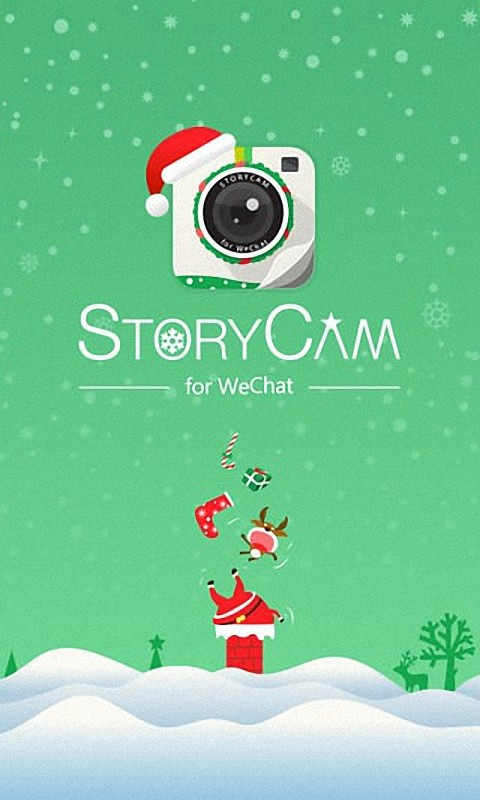 美女圣诞相机
