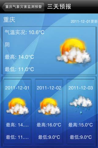 重庆天气预报软件截图0