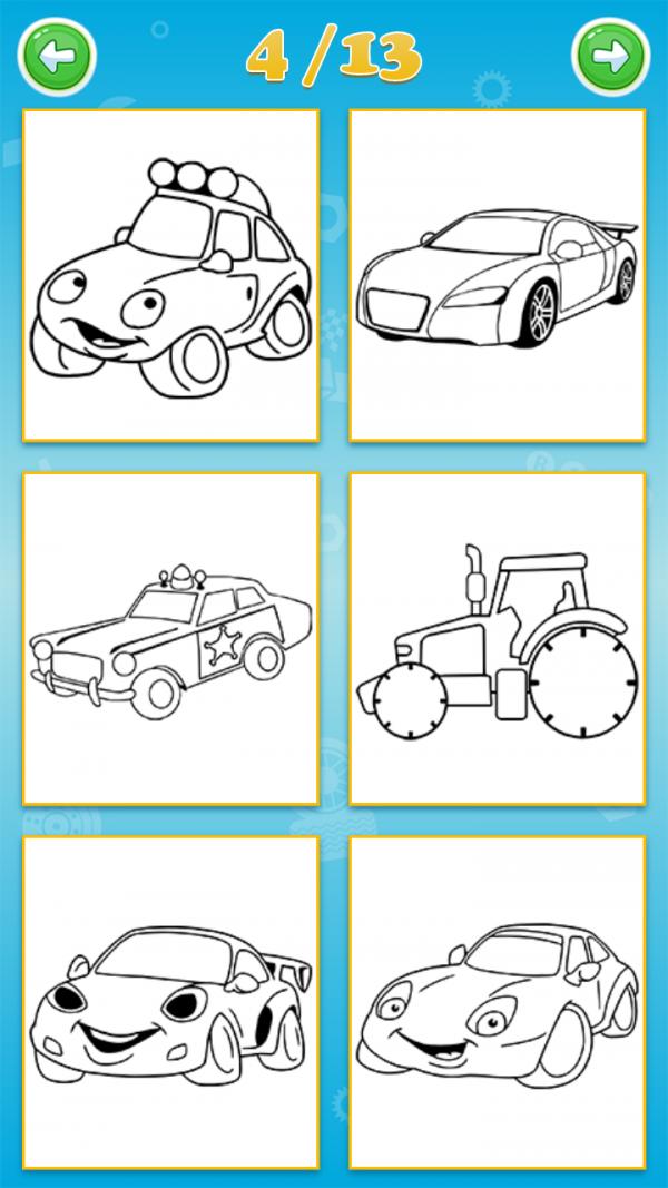 宝宝爱涂色汽车篇软件截图3