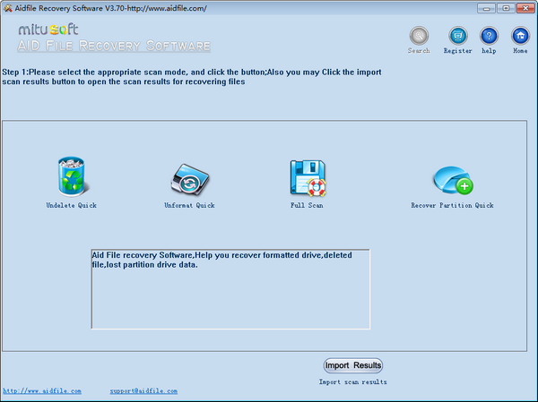 Aidfile Recovery Software(数据恢复软件)下载