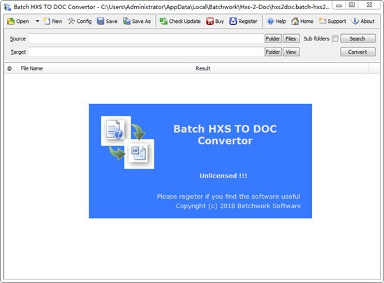 Batch HXS TO DOC Converter(HXS转Word转换器)下载