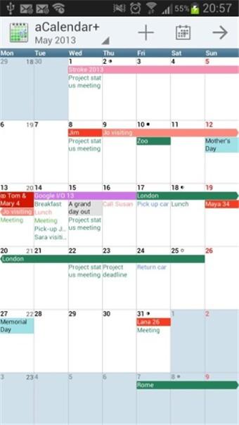 安卓日历aCalendar+软件截图3