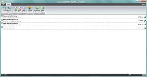 Static Windows Mail Backup(邮件备份工具)