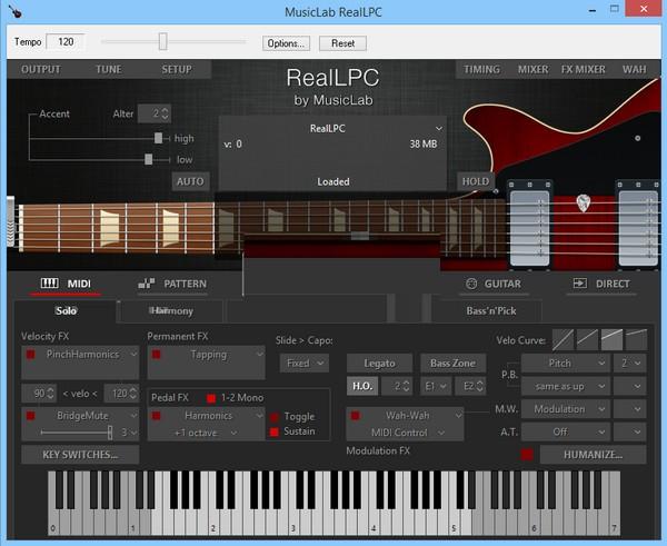 MusicLab RealLPC(虚拟吉他乐器软件)