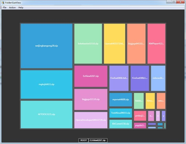 Folder Size View(文件夹可视化管理)