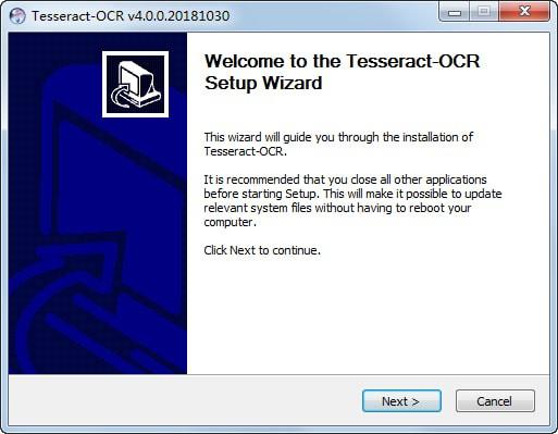tesseract ocr(图像识别类库)