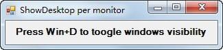 ShowDesktop Per Monitor(显示当前屏幕工具)