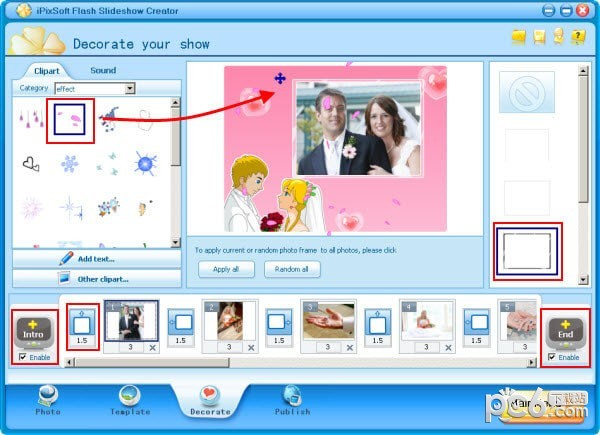 iPixSoft Flash Slideshow Creator(flash相册制作软件)