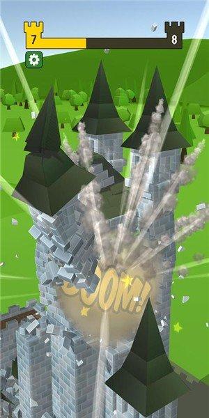 大炮射击摧毁城堡软件截图1