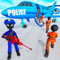 火柴人警察运输囚犯