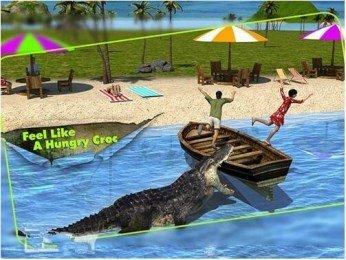 3D鳄鱼模拟