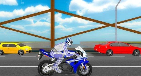 VR公路摩托车竞速软件截图0
