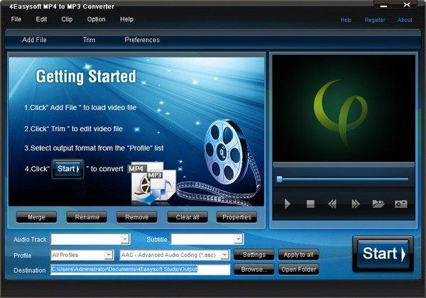 4Easysoft MP4 to MP3 Converter(音频转换软件)
