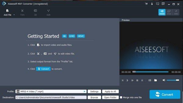 Aiseesoft MXF Converter(MXF视频格式转换软件)下载