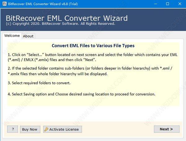 BitRecover EML Converter Wizard(EML文件转换工具)