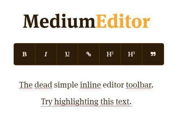 MediumEditor(内联编辑器工具栏)下载