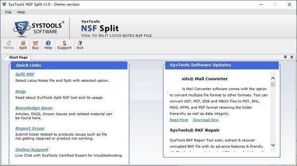 SysTools NSF Split(NSF文件分割软件)