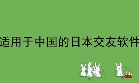 适用于中国的日本交友软件软件合辑