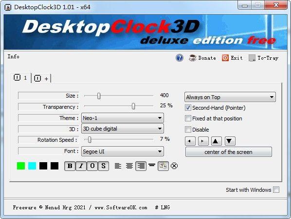 DesktopClock3D(3D桌面时钟软件)下载