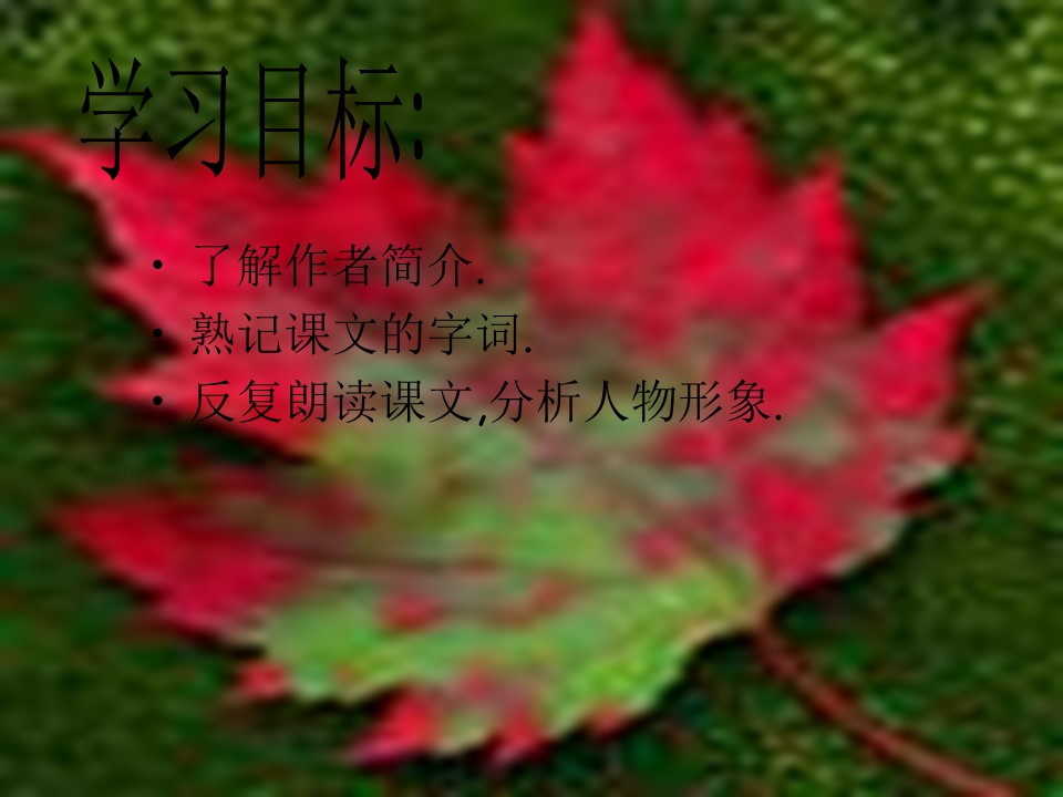 《最后一片叶子》PPT课件下载