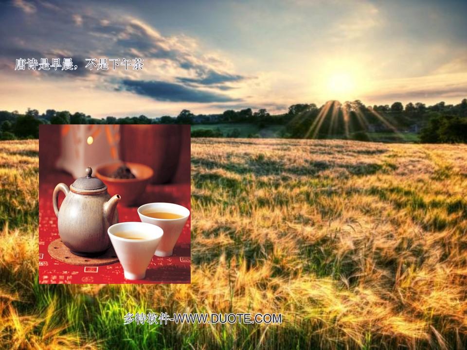 《唐诗是早晨,不是下午茶》PPT课件下载