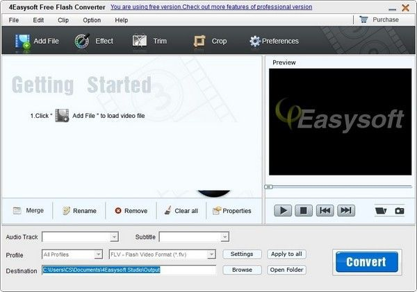 4Easysoft Free Flash Converter(视频格式转换软件)下载