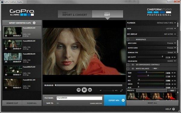 GoPro CineForm Studio(视频图像编辑工具)下载