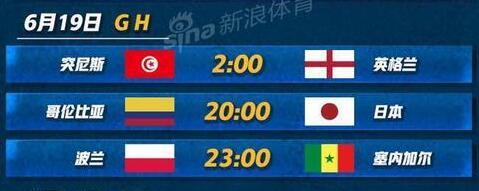 2018年6月19日世界杯是谁vs谁?附北京时间比赛赛程及直播地址