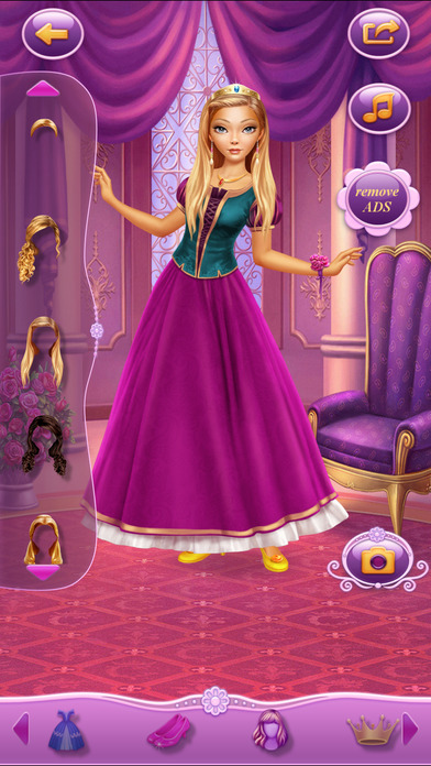 Dress Up Princess Selena软件截图0