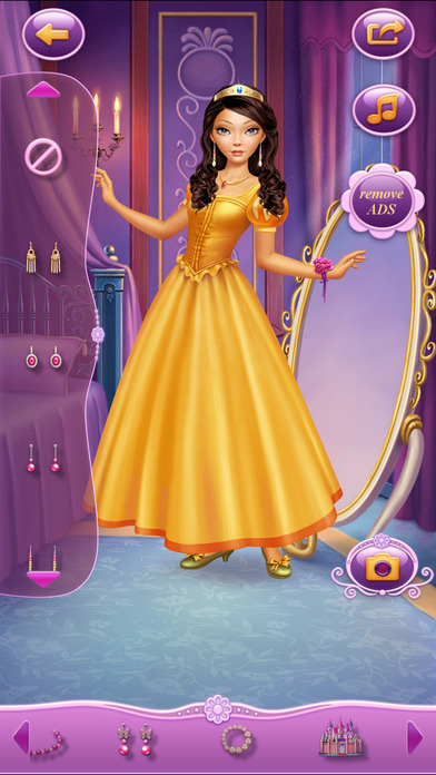 Dress Up Princess Selena软件截图1