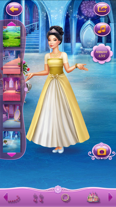 Dress Up Princess Snow White软件截图2